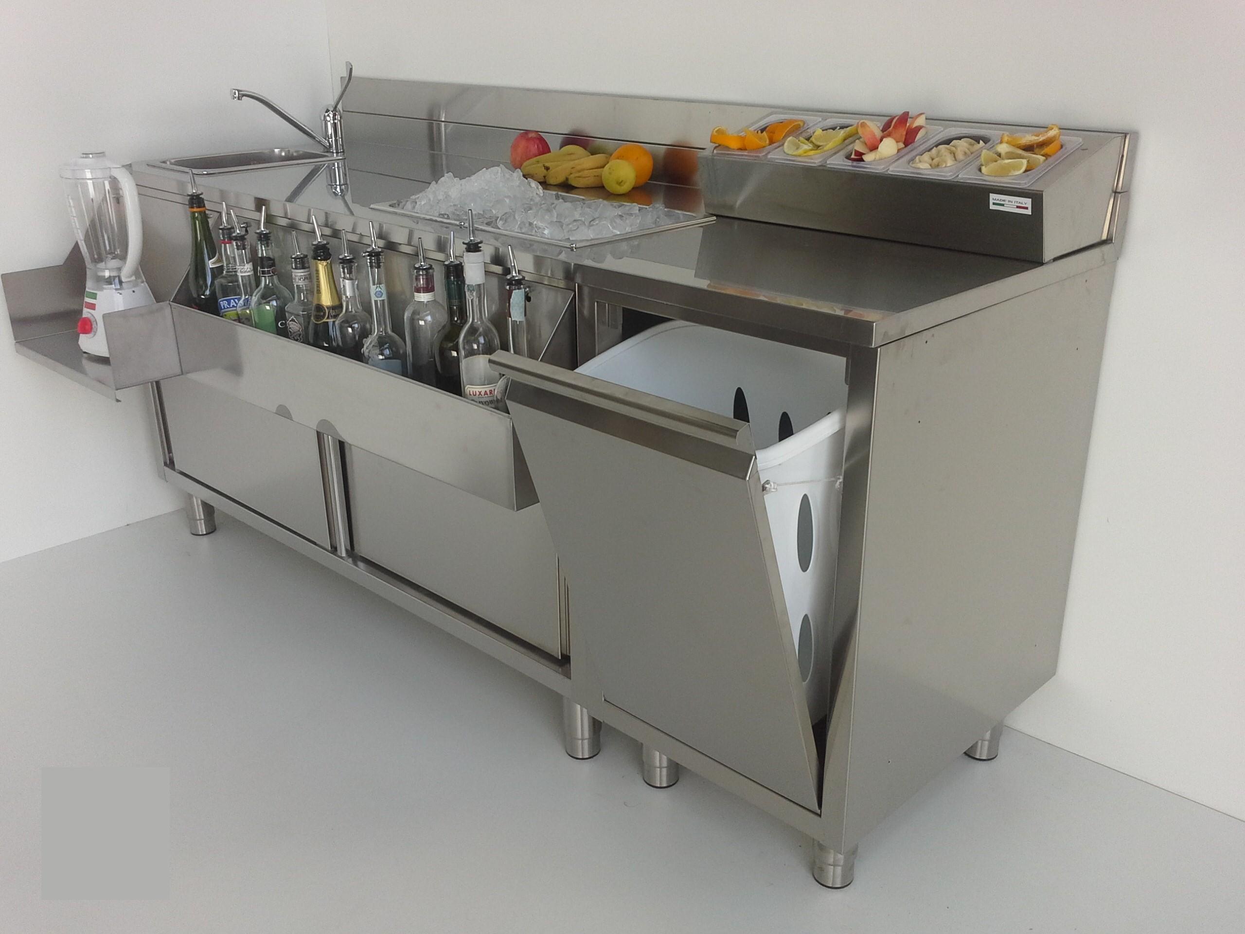 Workstation per cocktail marchiodoro attrezzature da for Bancone bar prezzi