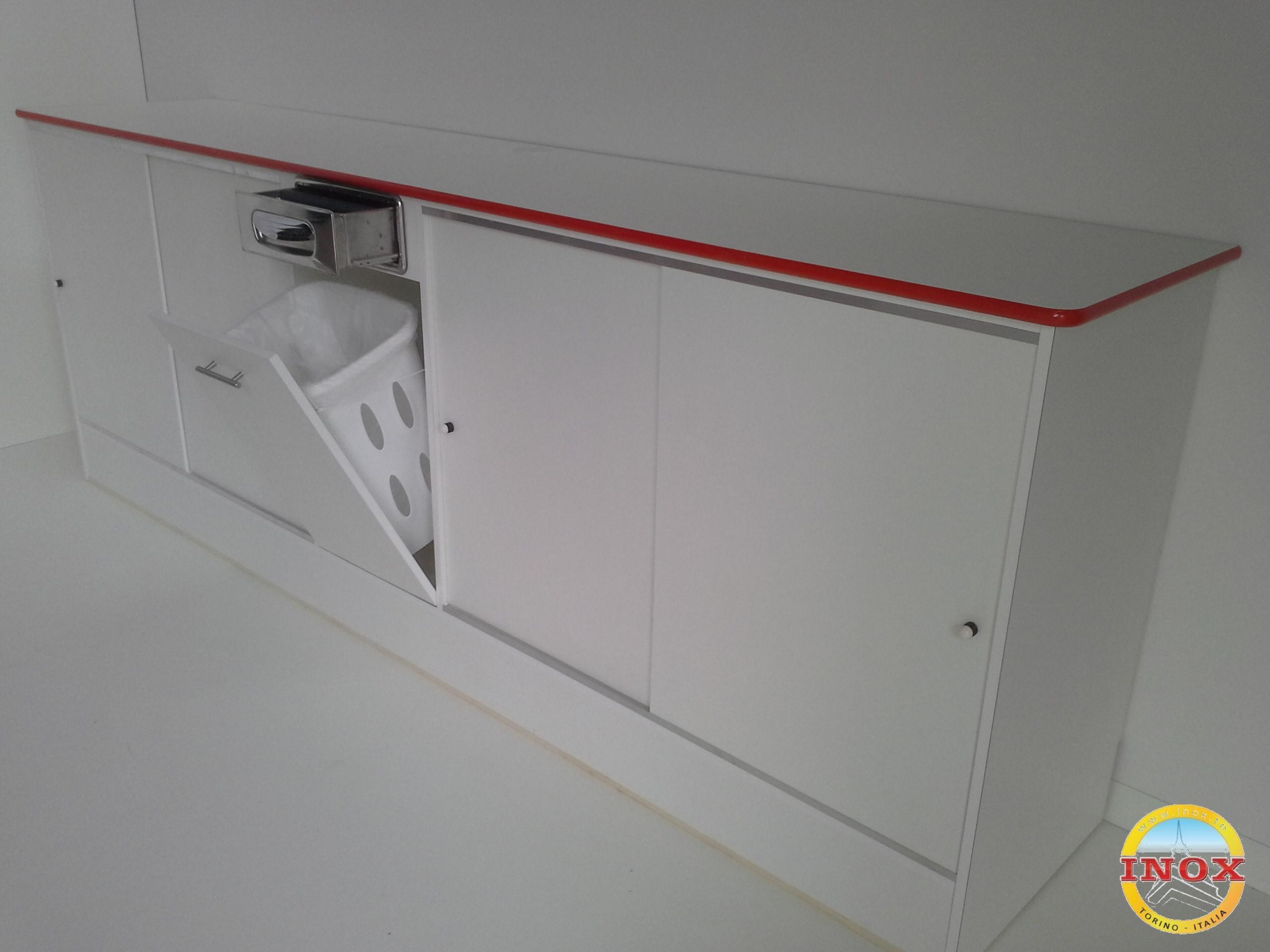 Retrobanco bar cm 300xp64xh110 in nobilitato art for Rb arredamenti